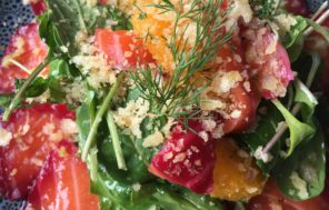 Beetroot & Gin Cured Salmon w Citrus Salad & Lemon Breadcrumbs : Jax Hamilton