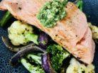 Roasted Salmon w Pesto Tossed Veges - Jax Hamilton