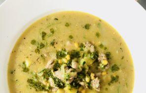 Chicken, Zucchini & Pesto Soup - Jax Hamilton Cooks