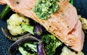 Roasted Salmon w Pesto Tossed Veges - Jax Hamilton