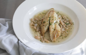 Pan Fried Fish in a Cannellini Bean Broth - Jax Hamilton