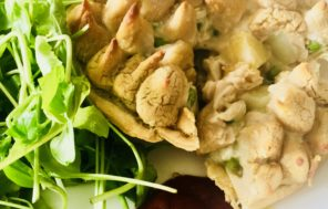 Cannellini Bean Mash Top Chicken & Mustard Pie - Jax Hamilton