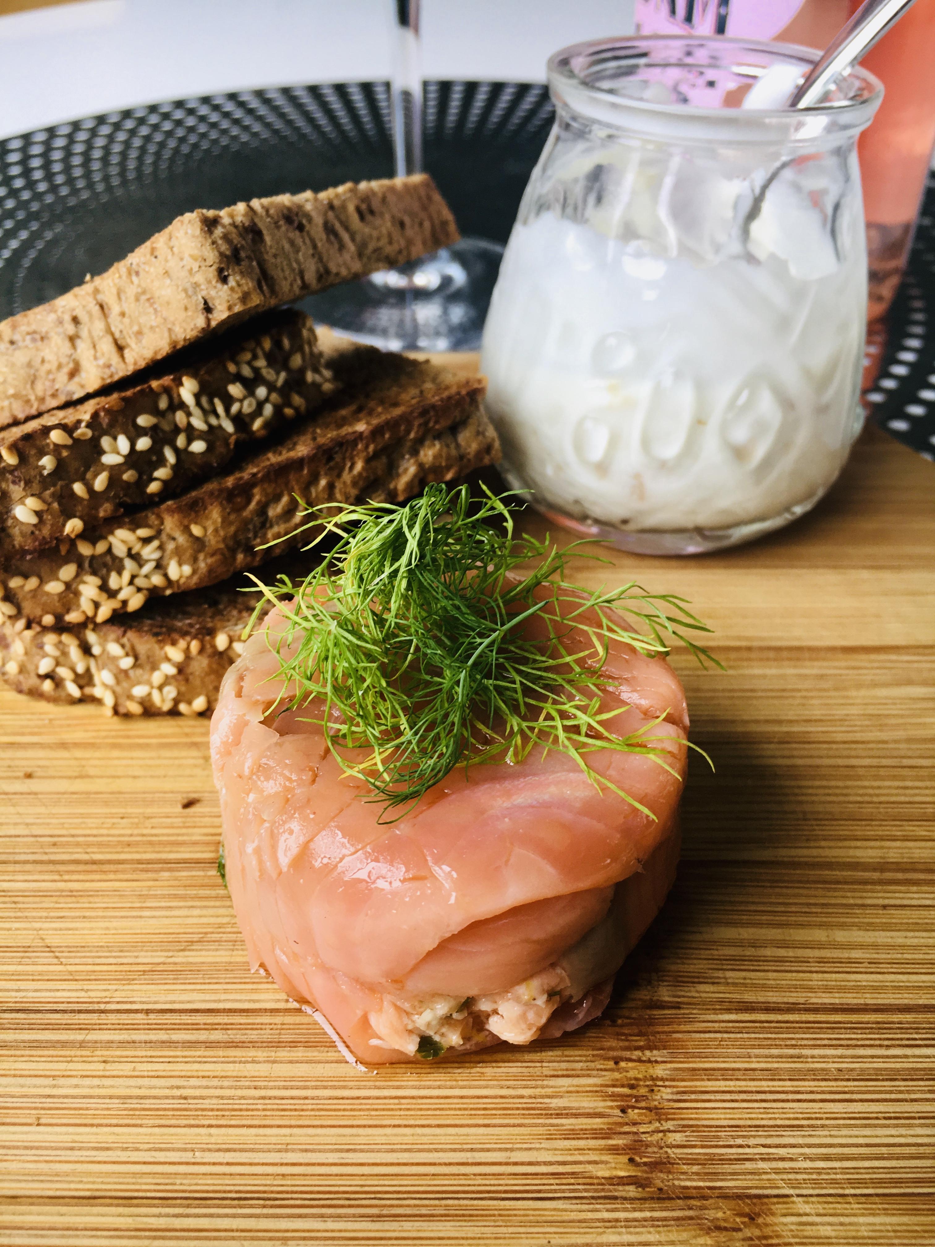 Vermouth Poached Salmon Rilette - Jax Hamilton Cooks